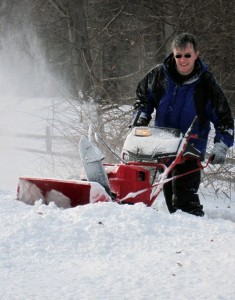 Brian with the snow blower